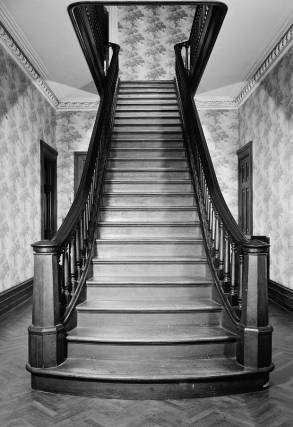 Cedarcroft's central stairway in an image taken in 1933.