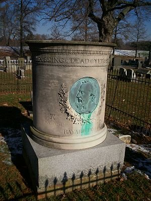 The headstone of Bayard Taylor's grave is as unique as the poet and Cedarcroft.