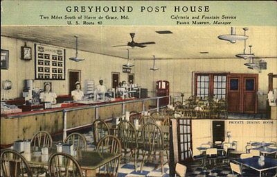 Inside View of Greyhound Bus Post House in Havre de Grace, MD