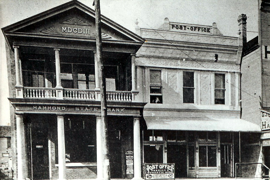The Old Fagan Drugstore is the building on the right.