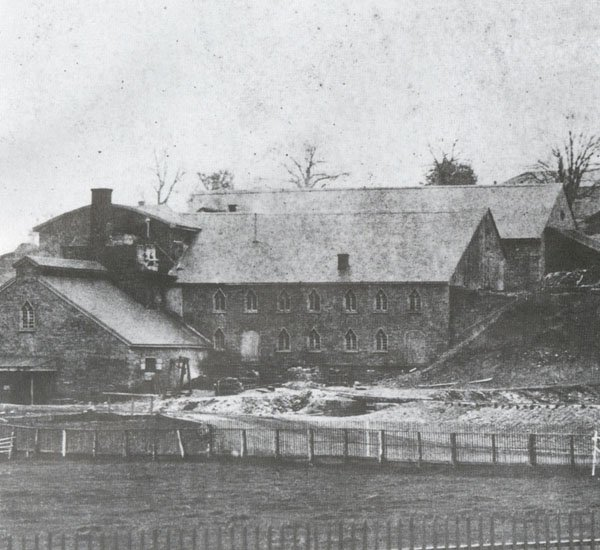 The Cornwall Iron Furnace as it looked c. 1865.