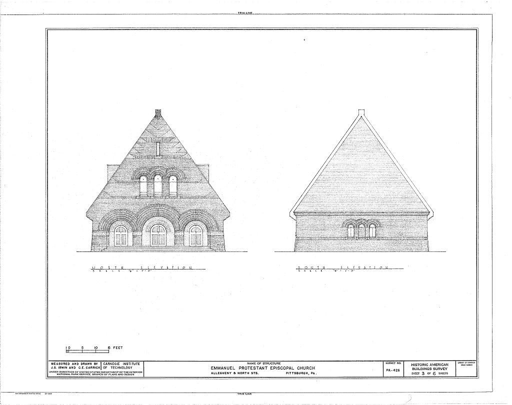 A set of exterior architectural drawings.