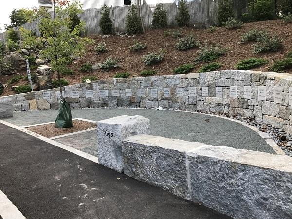 Proctor's Ledge Memorial, dedicated on the 325th anniversary of the hangings