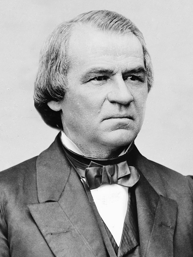 President Andrew Johnson, date unknown.