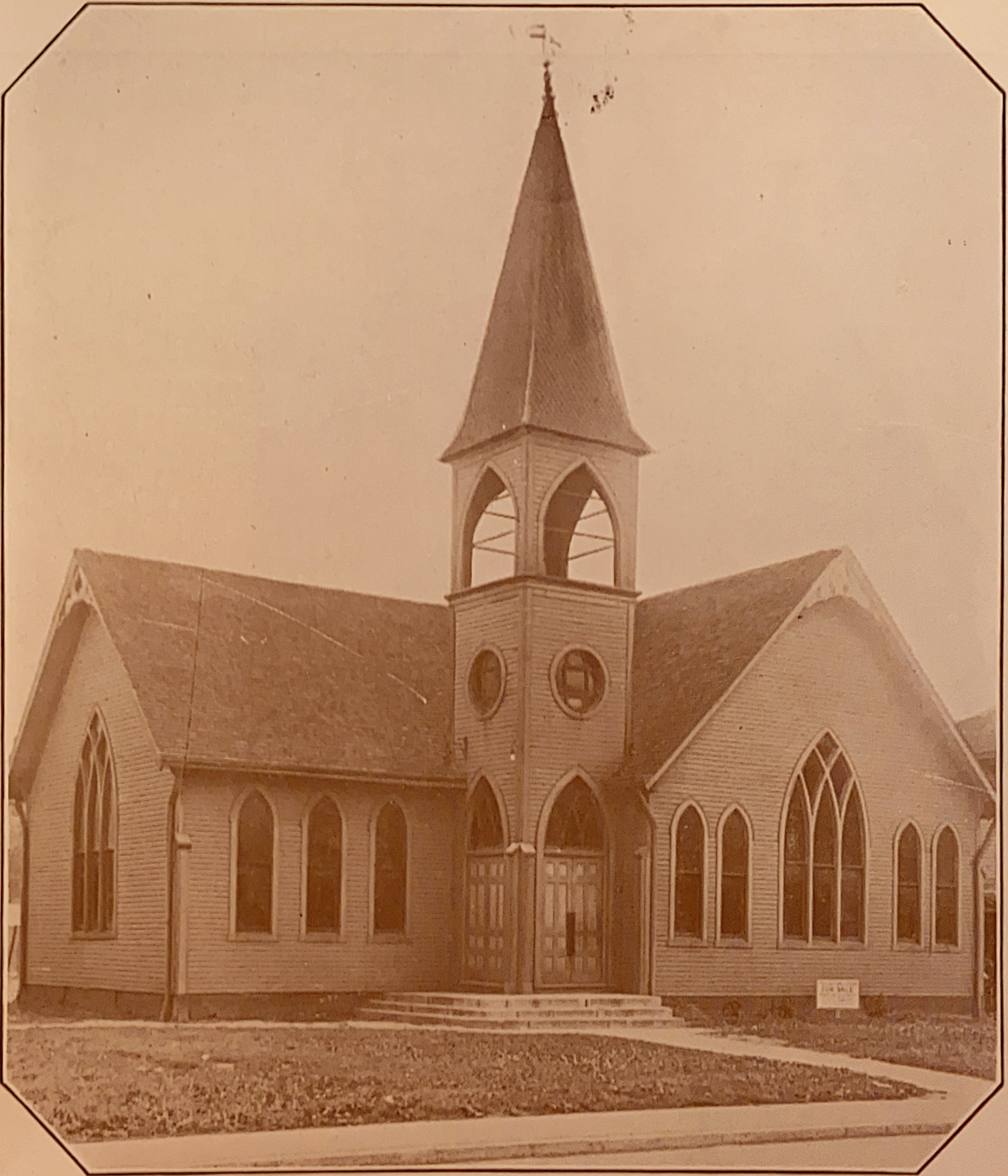 The first church building constructed for the St. Mark's congregation, services were held here from 1893 to 1921.