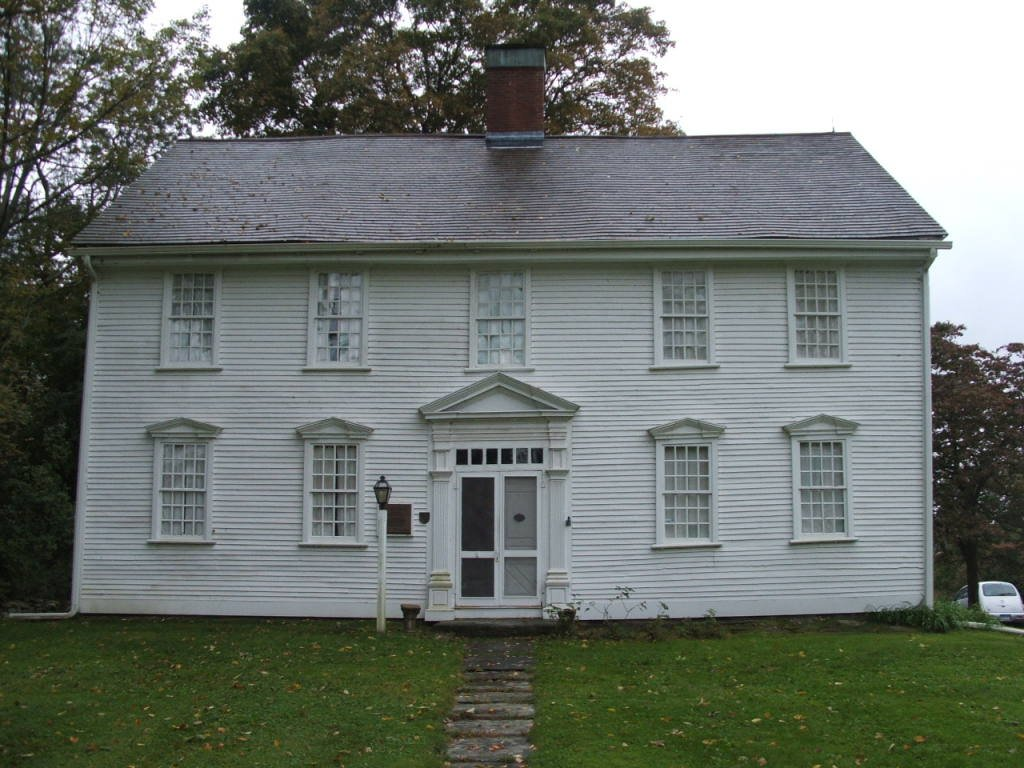 The Governor Jonathan Trumbull House was built around 1735 and is a National Historic Landmark.