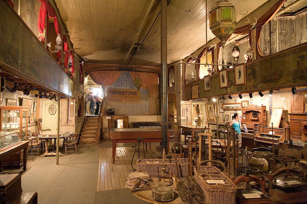 Interior of the Bird Cage Theatre