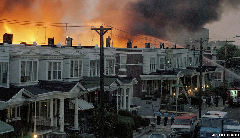 Fires triggered by the attack on Osage Avenue