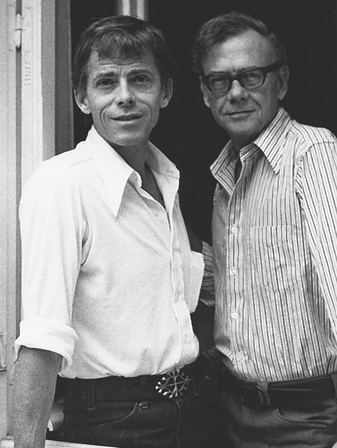 James Merrill (on the left) and his partner for three decades, David Jackson, pose for a picture.