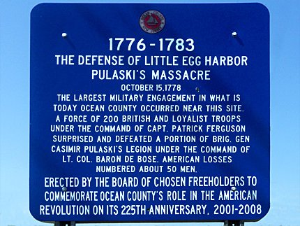 Little Egg Harbor Massacre Marker