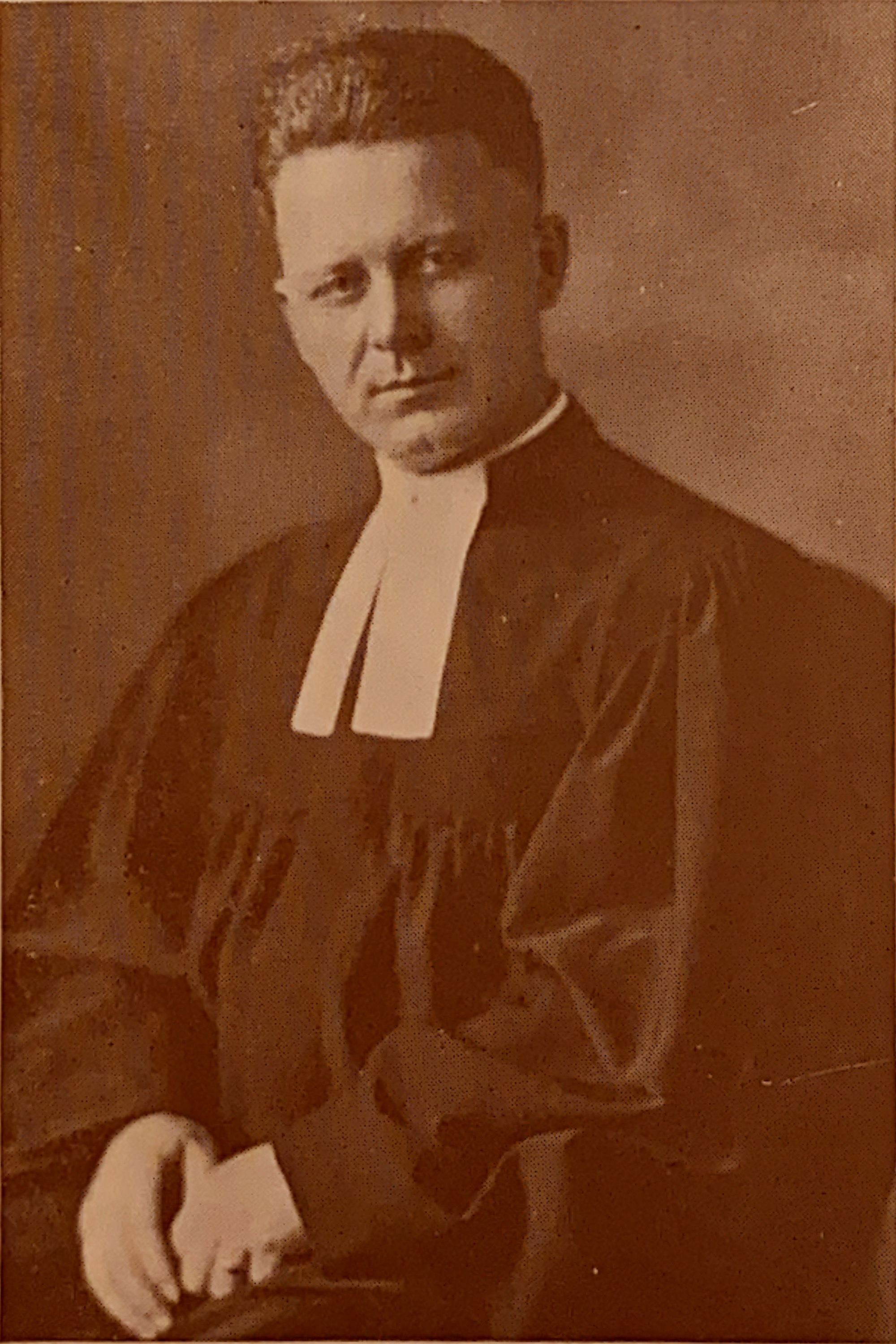 Rev. Reiner H. Benting's portrait was printed in the 1927 Dedication Souvenir pamphlet, handed out to guests of the celebration. Benting and a member of the congregation wrote a hymn for organ, which was performed at the Dedication Services on the church's new pipe organ.