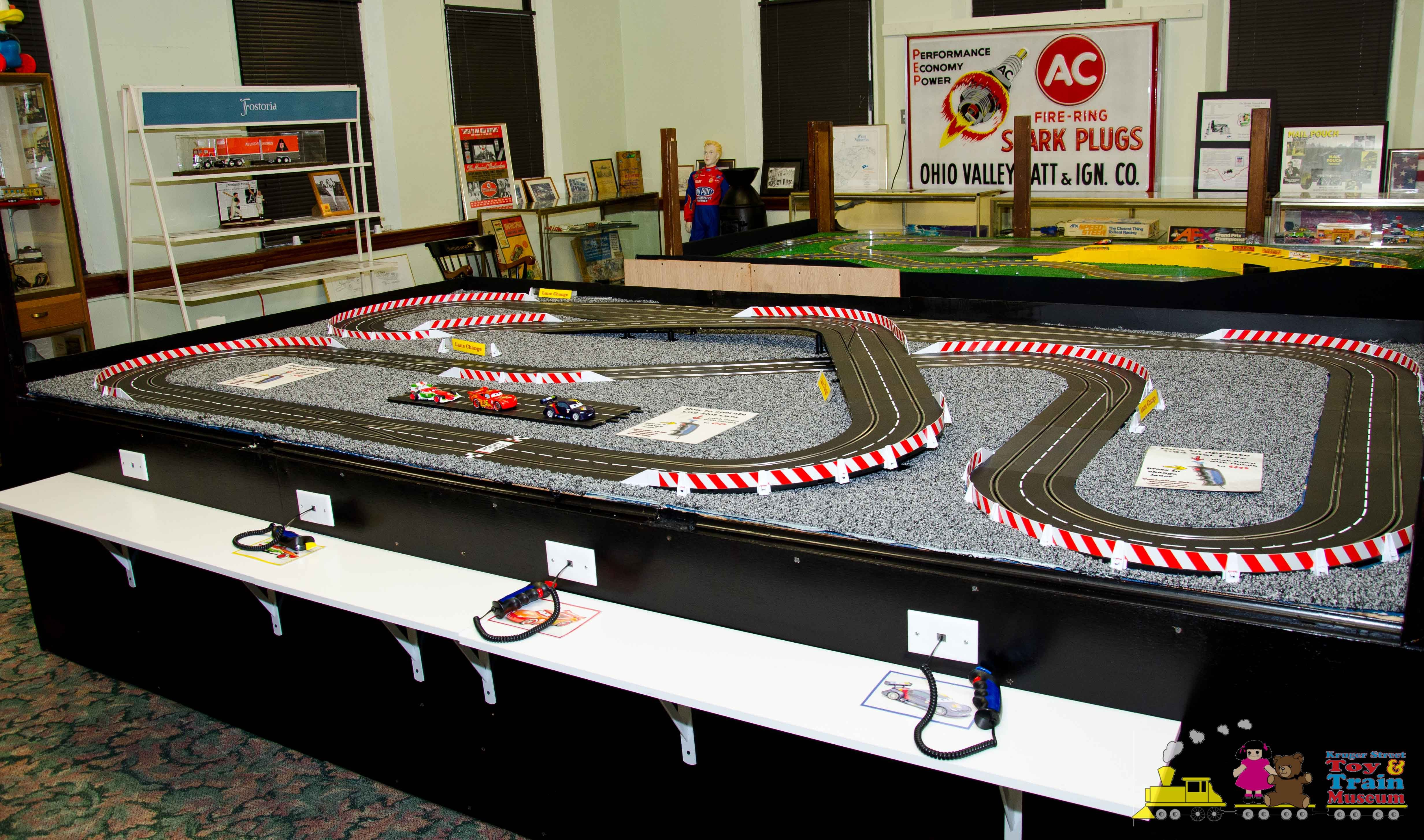 One of the slot car models on display within the museum.