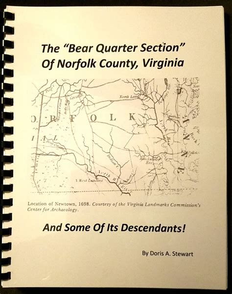 Book created by Doris Stewart, a life long resident of Bear Quarter
