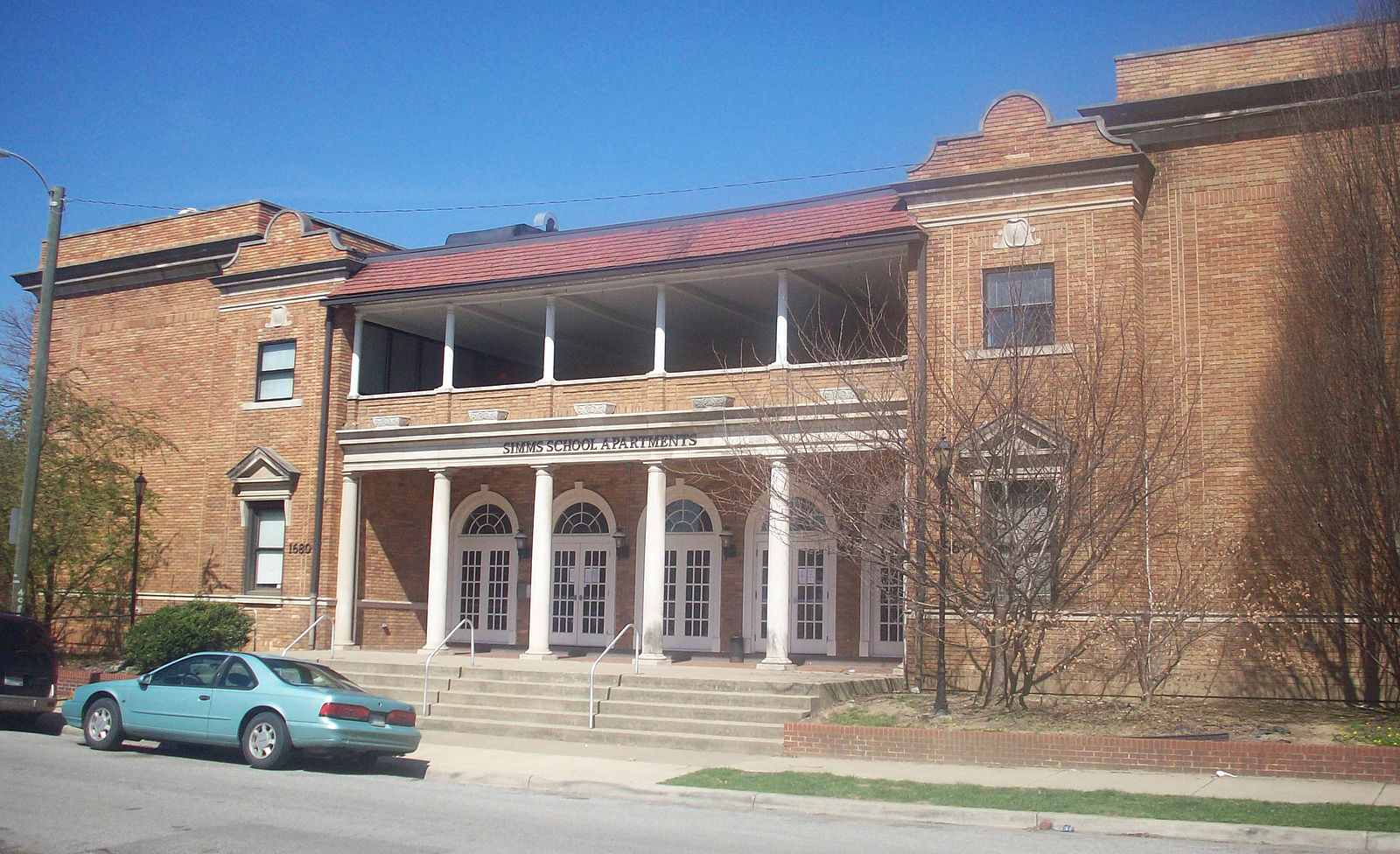 The former school, now Simms School Apartments