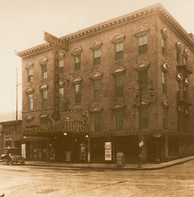 The Bijou Theatre during its vaudeville days, circa the early 1920s.