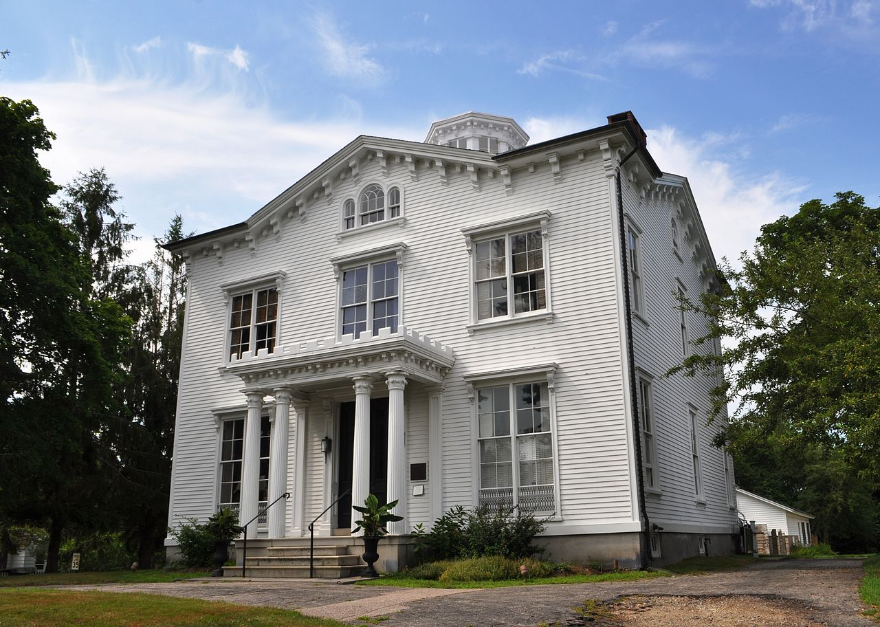 The Captain Nathaniel B. Palmer House was built in 1854. Its namesake, Nathaniel Palmer, discovered Antarctica in 1820.