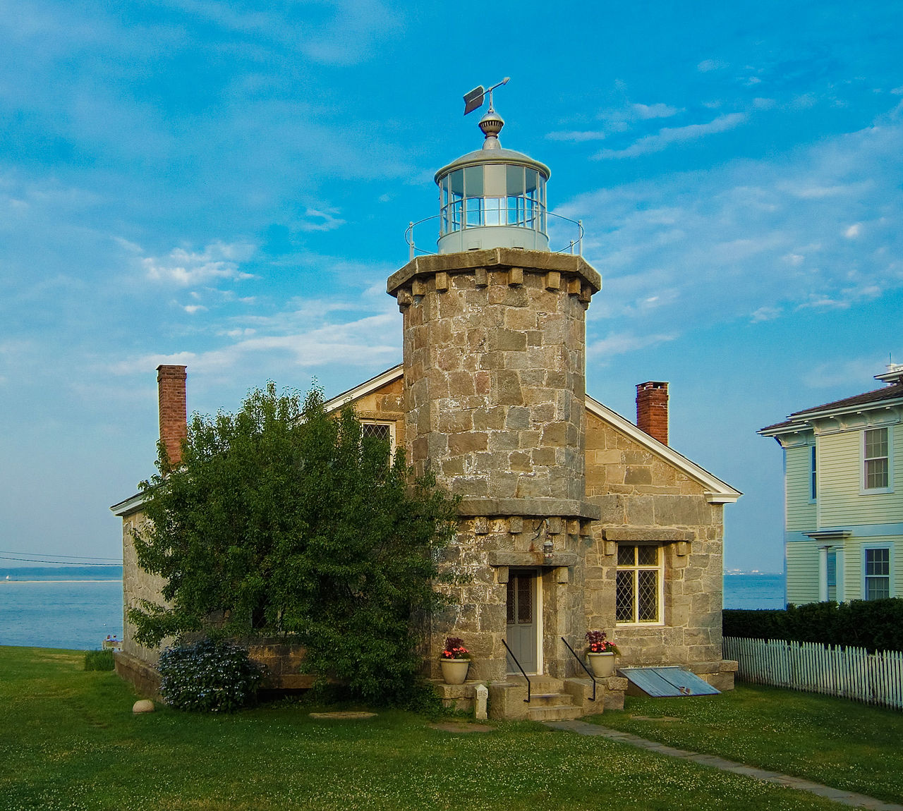 The Stonington Harbor Light was built in 1840 and is now a museum.