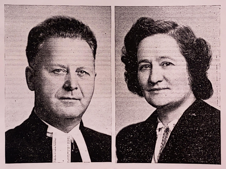Rev. Reiner H. Benting and his wife Olga in 1941.
