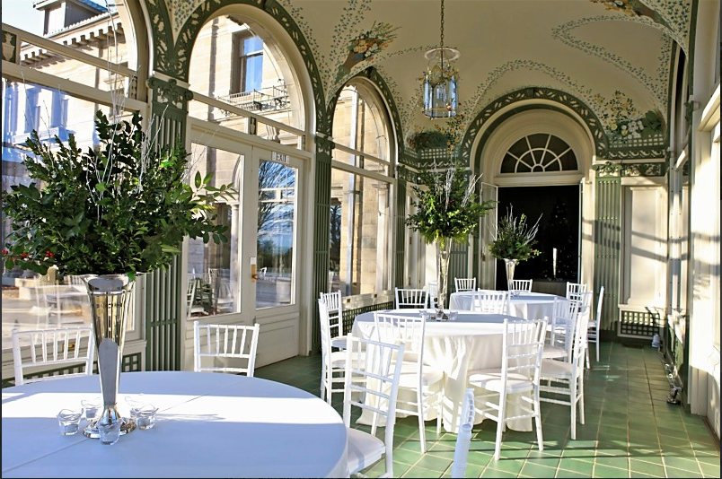 The mansion is available to rent for weddings and other events.