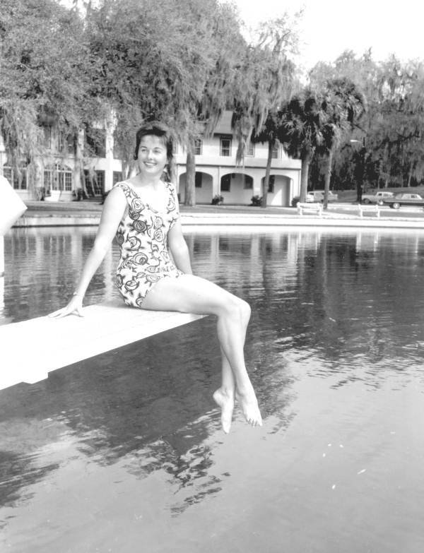 Young Woman Posing By Swimming Pool (1962)