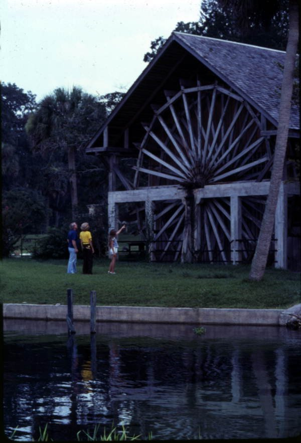 Visitors Looking At Old Mill Restaurant (1978)