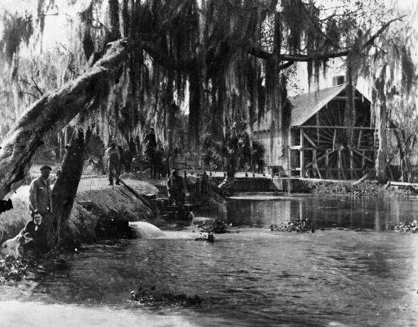 Spillways & Mill At De Leon Springs (1915)