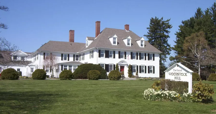 The Mathew Bowen Homestead was built in 1816. It is now the Inn at Woodstock Hill.