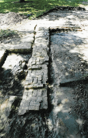 The Foundation Wall of Fort Anahuac
