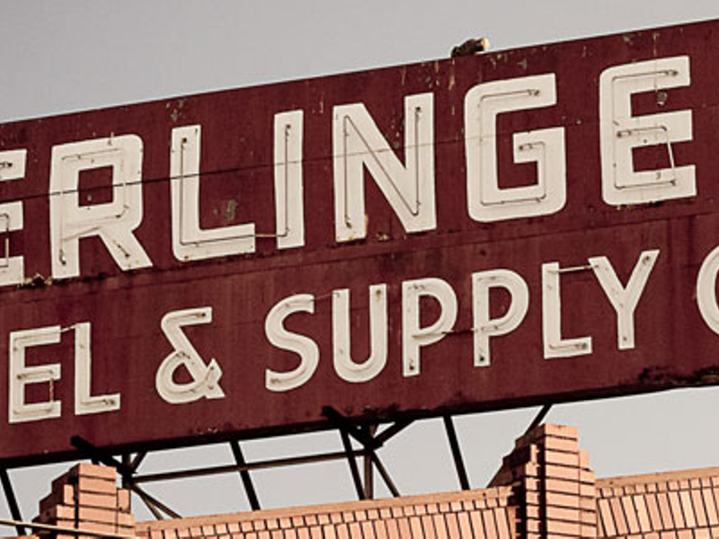 Gerlinger Steel & Supply Co. Sign (detail)