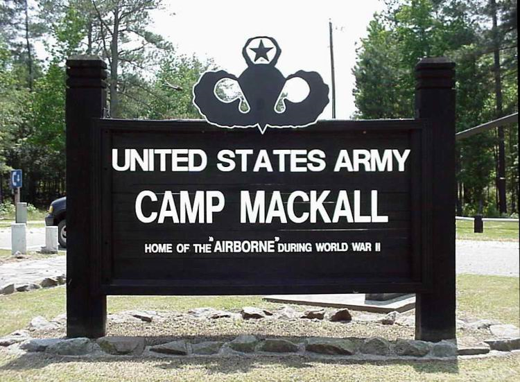 First sight many soldiers see as they are entering Camp Mackall to earn the coveted Green Beret.