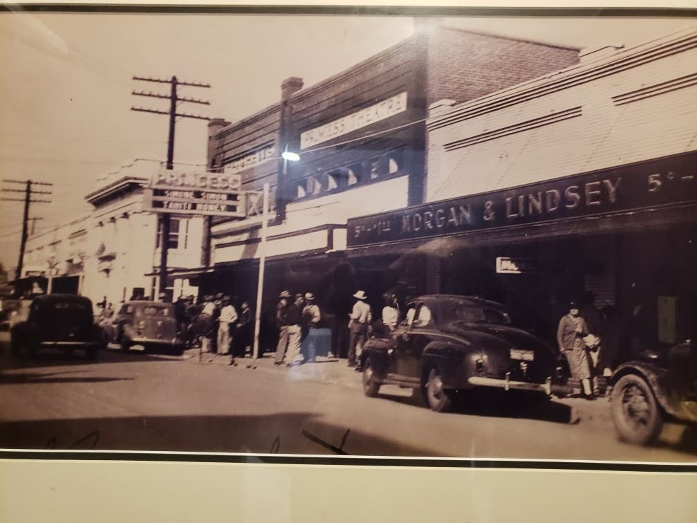 Past Picture of the Princess Theatre. Framed inside the Princess Theatre