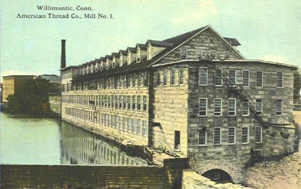 This postcard shows Mill No. 1 of the American Thread Company.