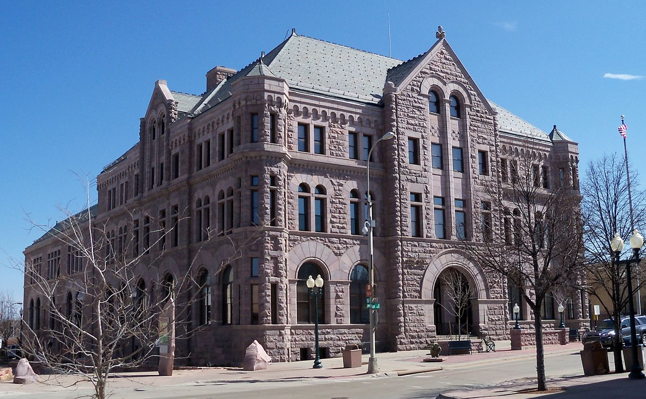 Built in 1895, the United States Courthouse is a fine example of Romanesque architecture.