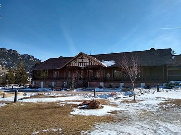 YMCA of the Rockies Estes Park Administration Building Winter 2019
