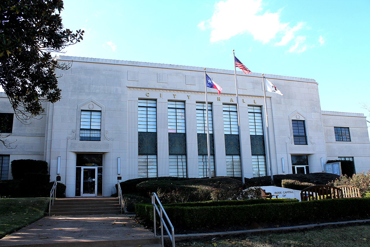Tyler City Hall was built in 1938 and is a fine example of Art Deco architecture.