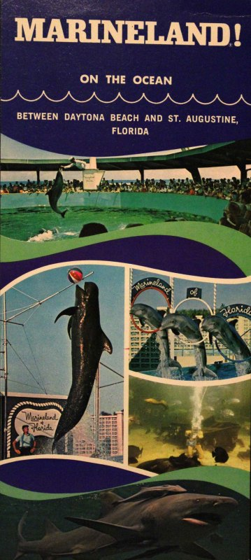 This is an old brochure for Marineland when it first opened. This explains to its viewers what they will expect when they visit Marineland.