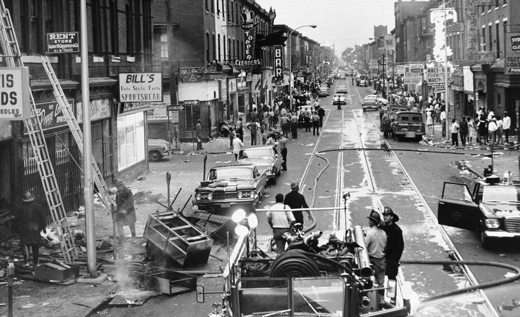 Columbia Avenue during the riots
