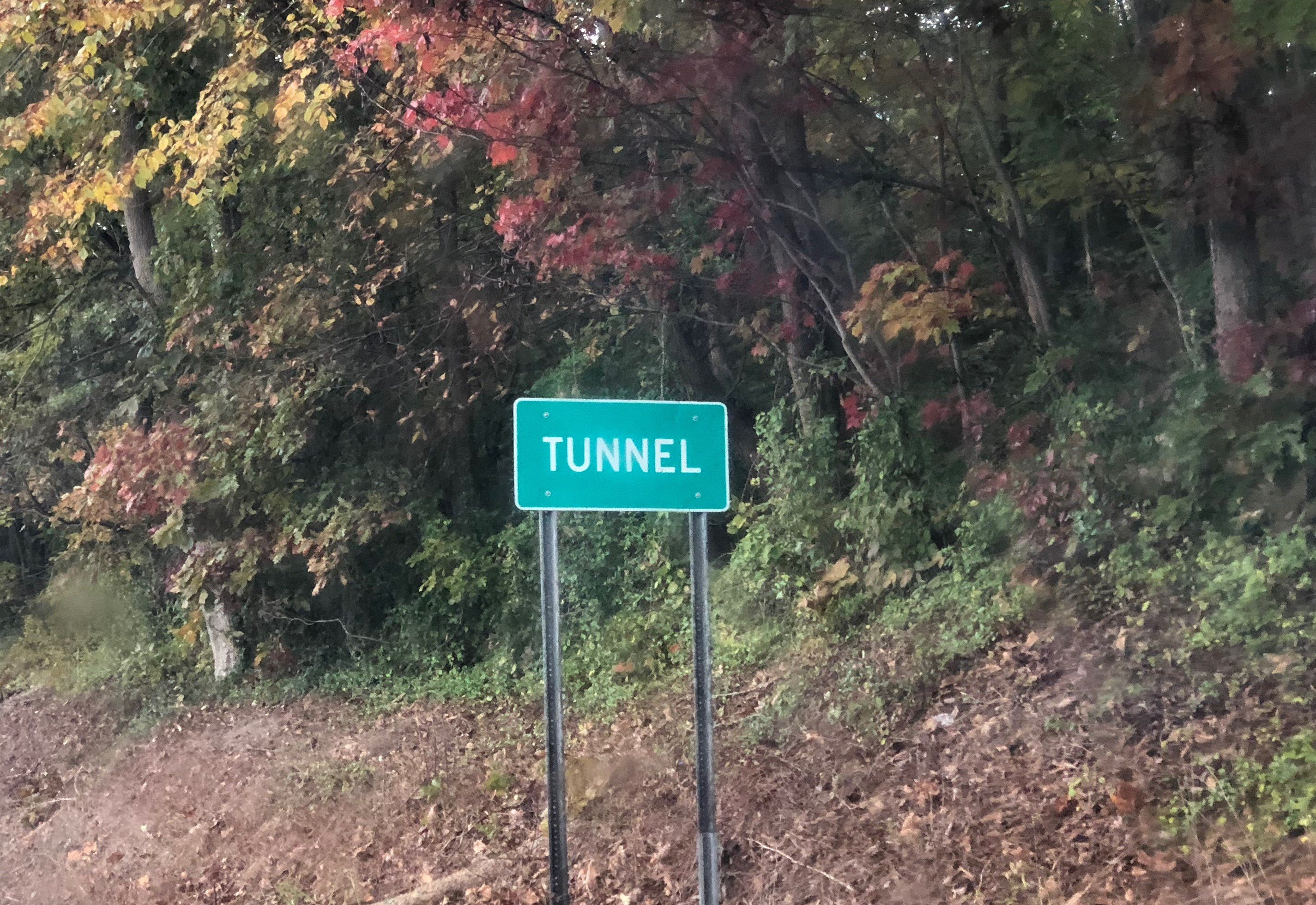 Sign for the community of Tunnel, located on Route 550 just outside of Marietta.