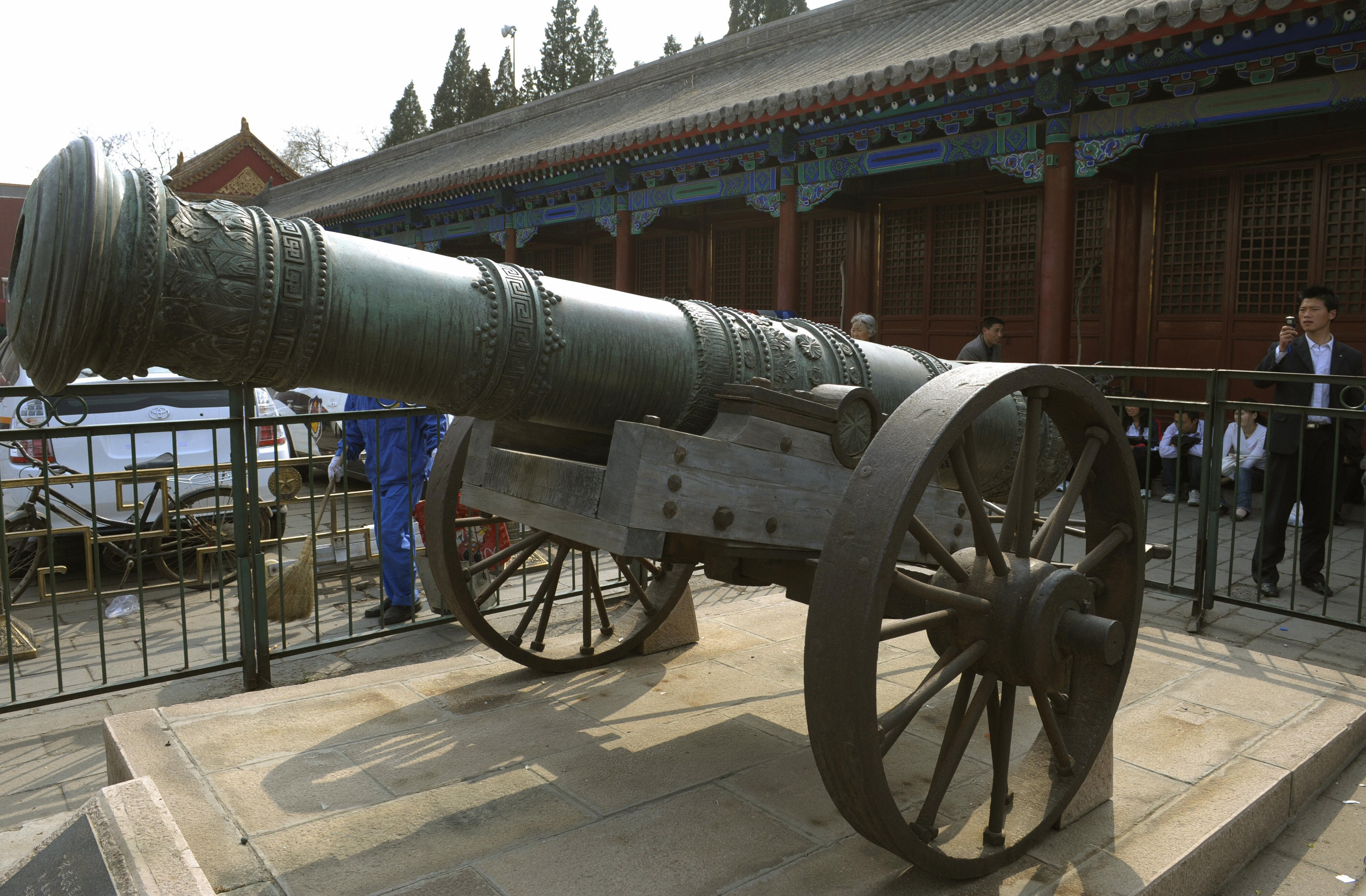 The Chinese were the first to invent the cannon in the 12th century
