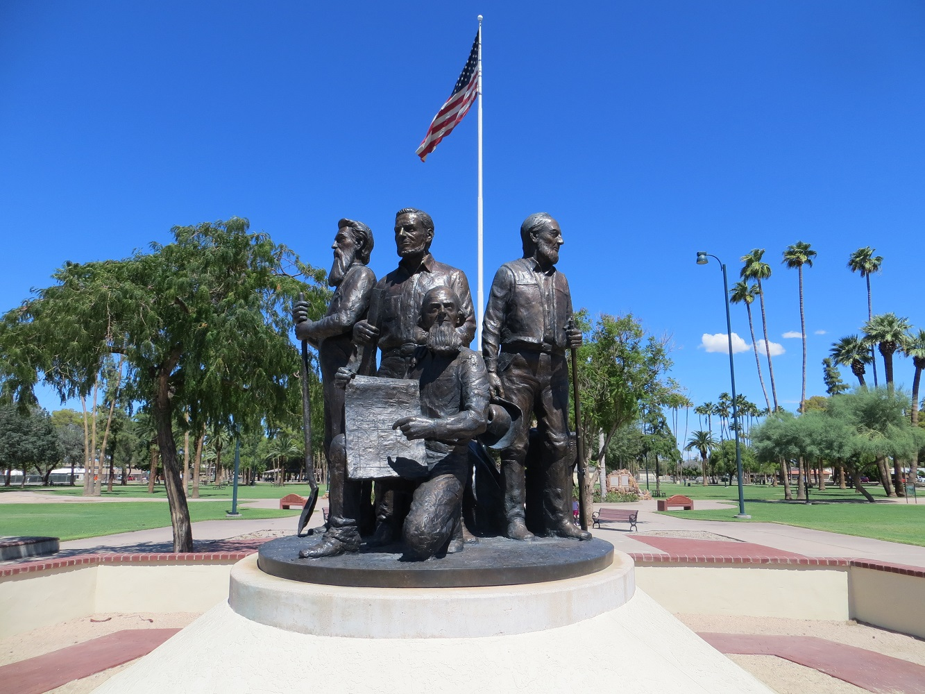 Mesa's Mormon founding fathers are prominently featured.  Photograph by Cynthia Prescott.
