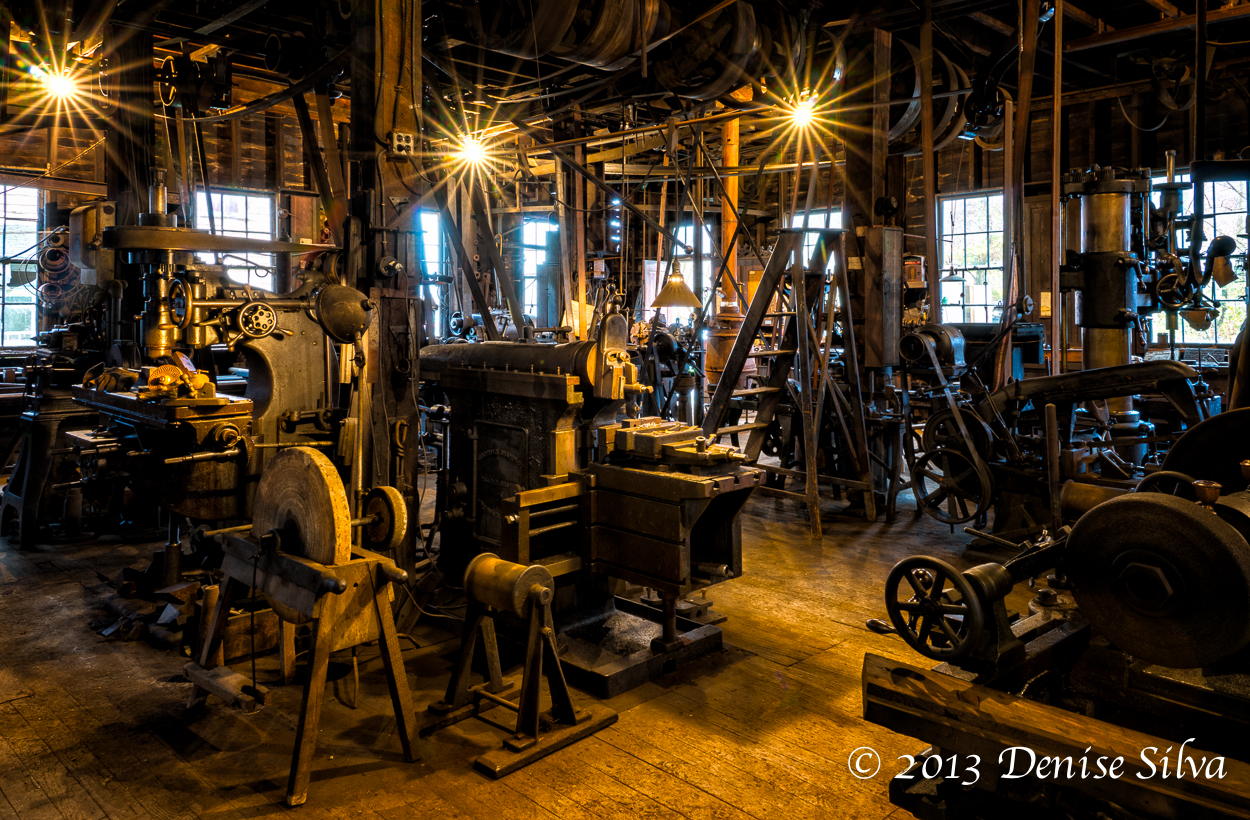 The machine shop is a popular destination for industrial photography tours.