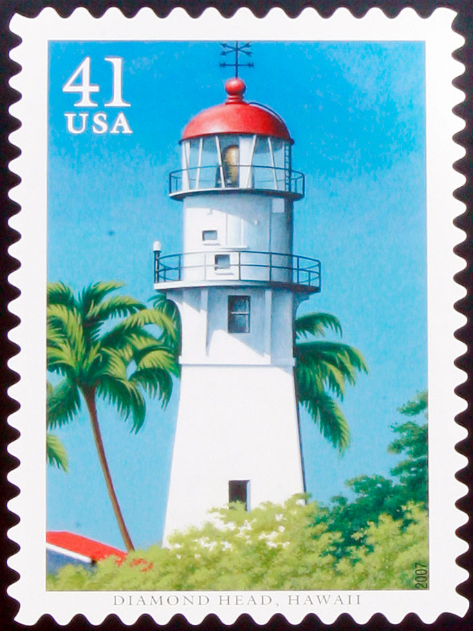 The Diamond Head Lighthouse was featured in a stamp in 2007.