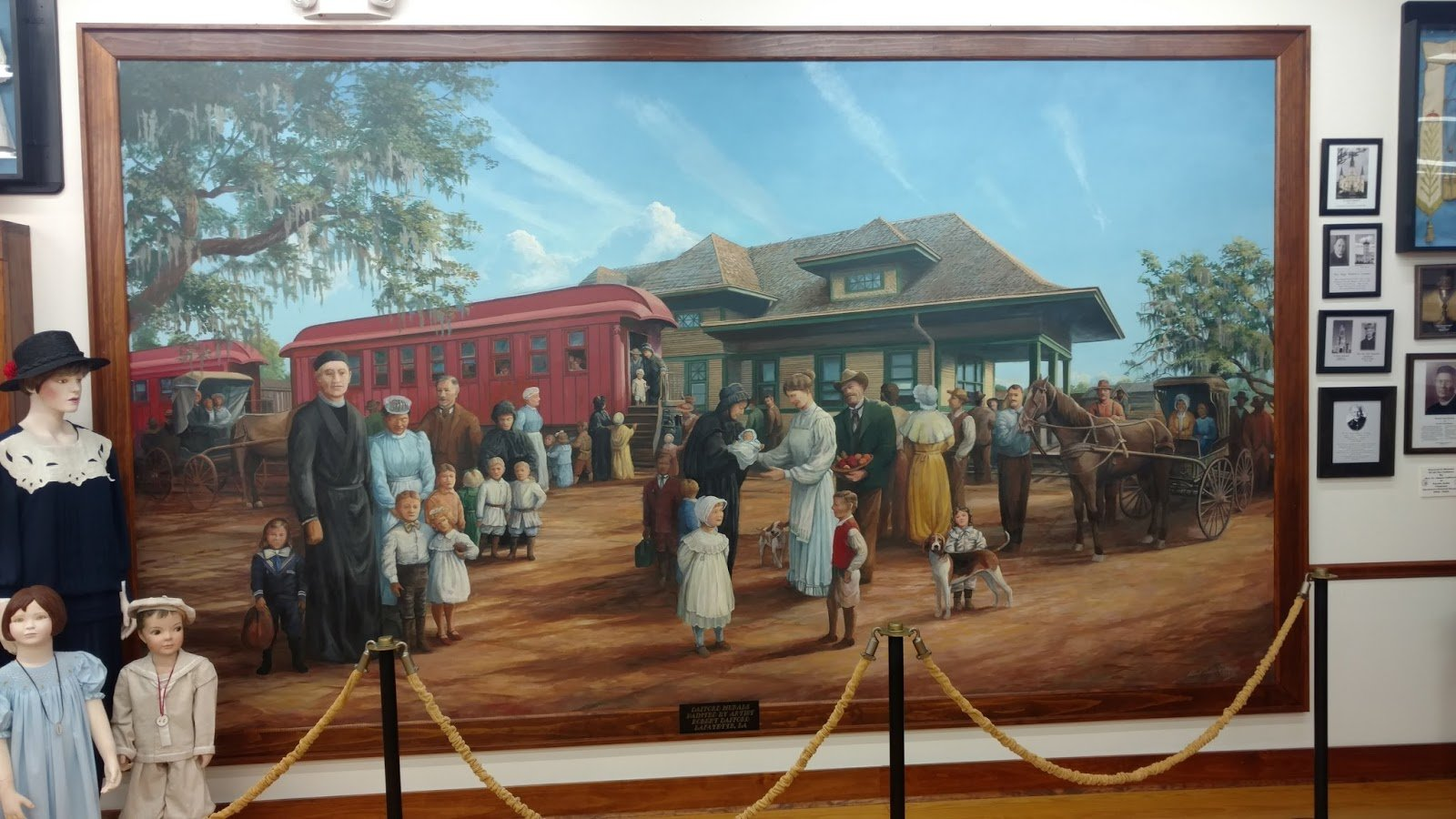 A picture located inside the Orphan Train Museum.