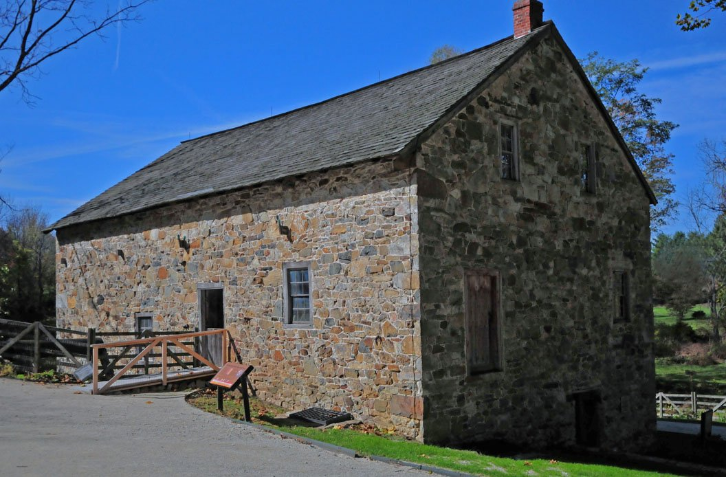 The banked Mill at Anselma is still a fully operational, water-powered grist mill.