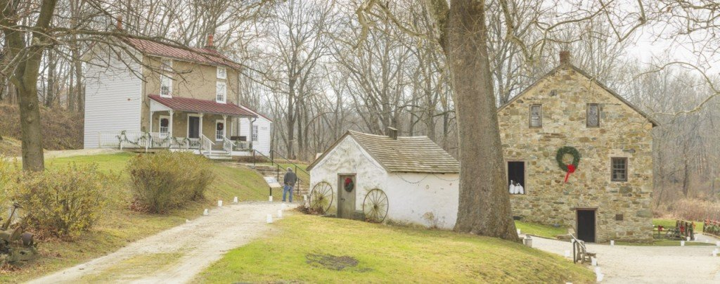 The 22-acre site also includes out buildings and walking trails that are open year round.