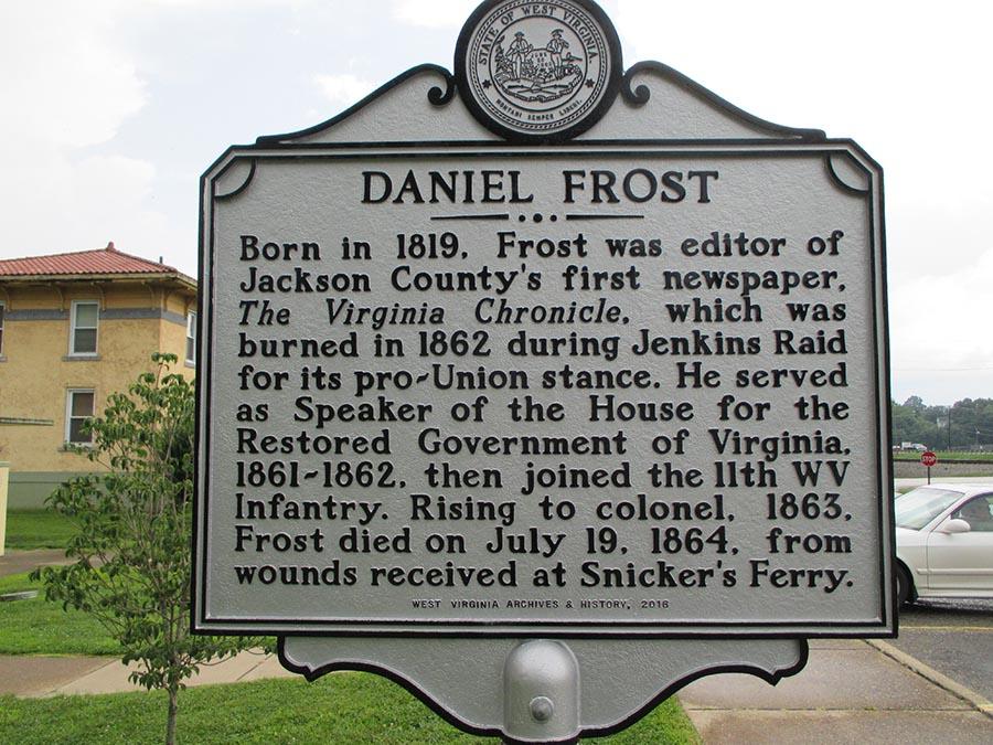 Daniel Frost Historic Marker