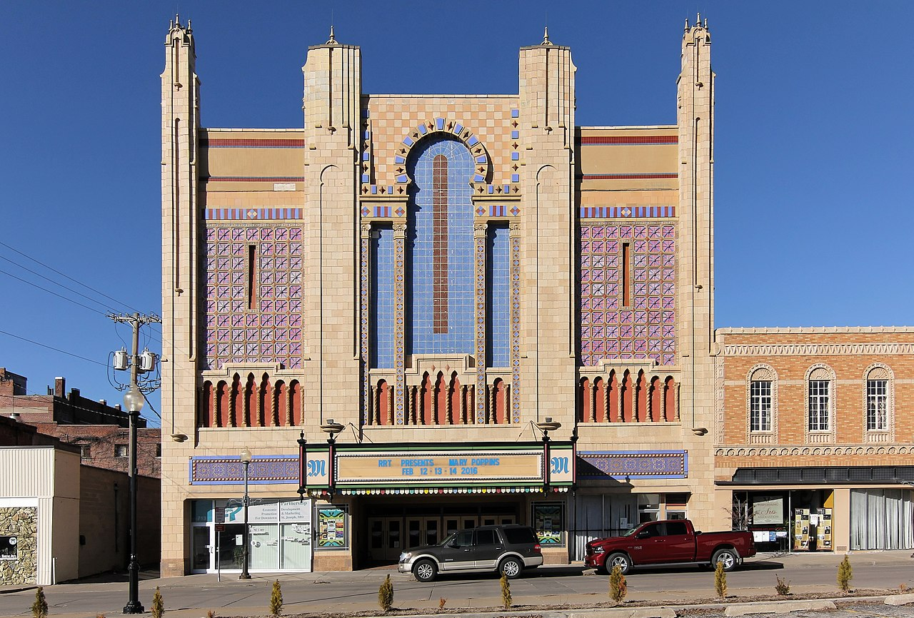 The Missouri Theater is one of the more striking landmarks in St. Joseph.  It operates as a performing arts center today.