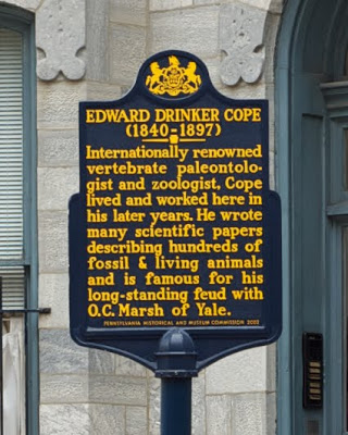 Historic marker outside the Cope House