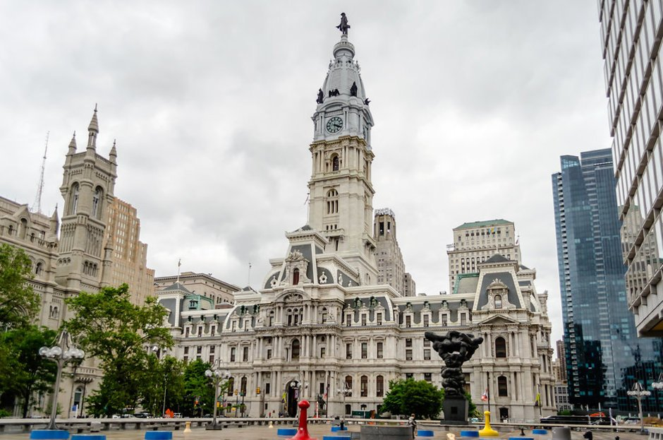 Philadelphia City Hall was built between 1871 and 1901.