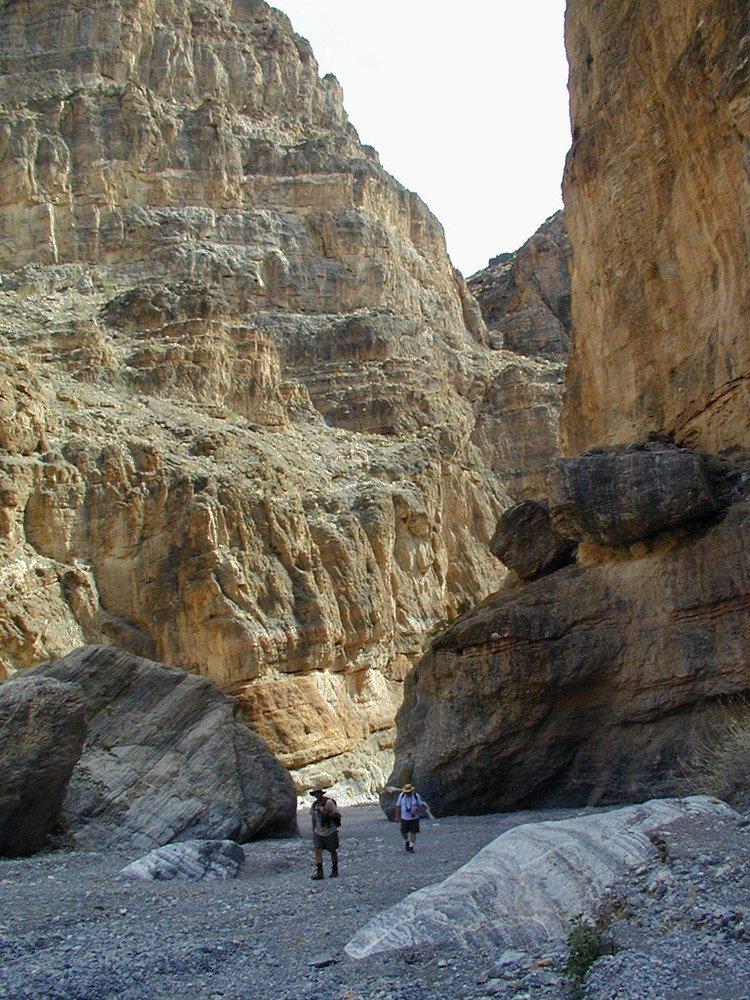The park has many canyons to explore.